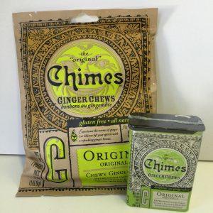 Chimes Ginger Chews 141g. bag / 56g. tin Image