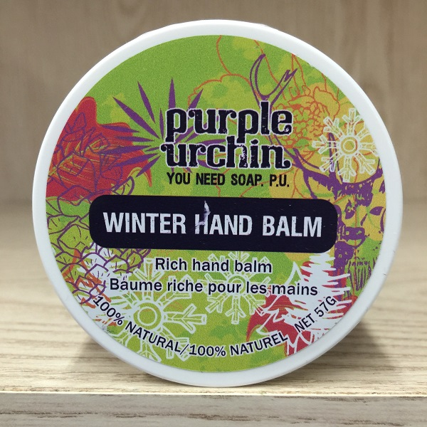 Purple Urchin winter hand balm 57g. Image