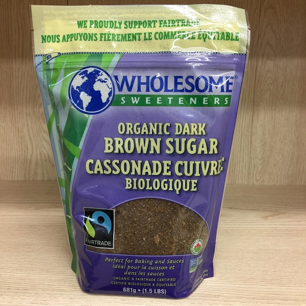 Wholesome Sweeteners Dark Brown Sugar - 1.5lbs Image