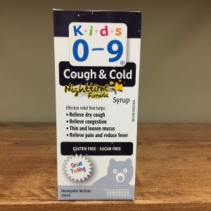 Homeocan Kids 0-9 Cough & Cold nighttime syrup - 250ml. Image