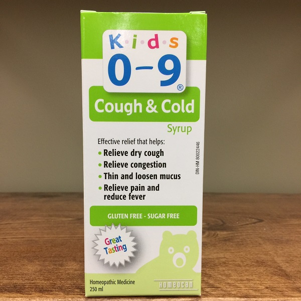 Homeocan Kids 0-9 Cough & Cold syrup - 250ml. *100ml. also available* Image