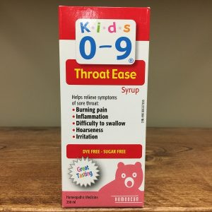 Homeocan Kids 0-9 Throat Ease syrup - 250ml. Image