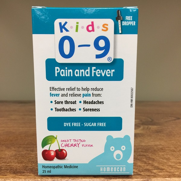 Homeocan Kids 0-9 Pain & Fever - 25ml. Image
