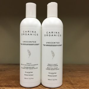 Carina Organics Unscented shampoo or conditioner - 360ml. Image