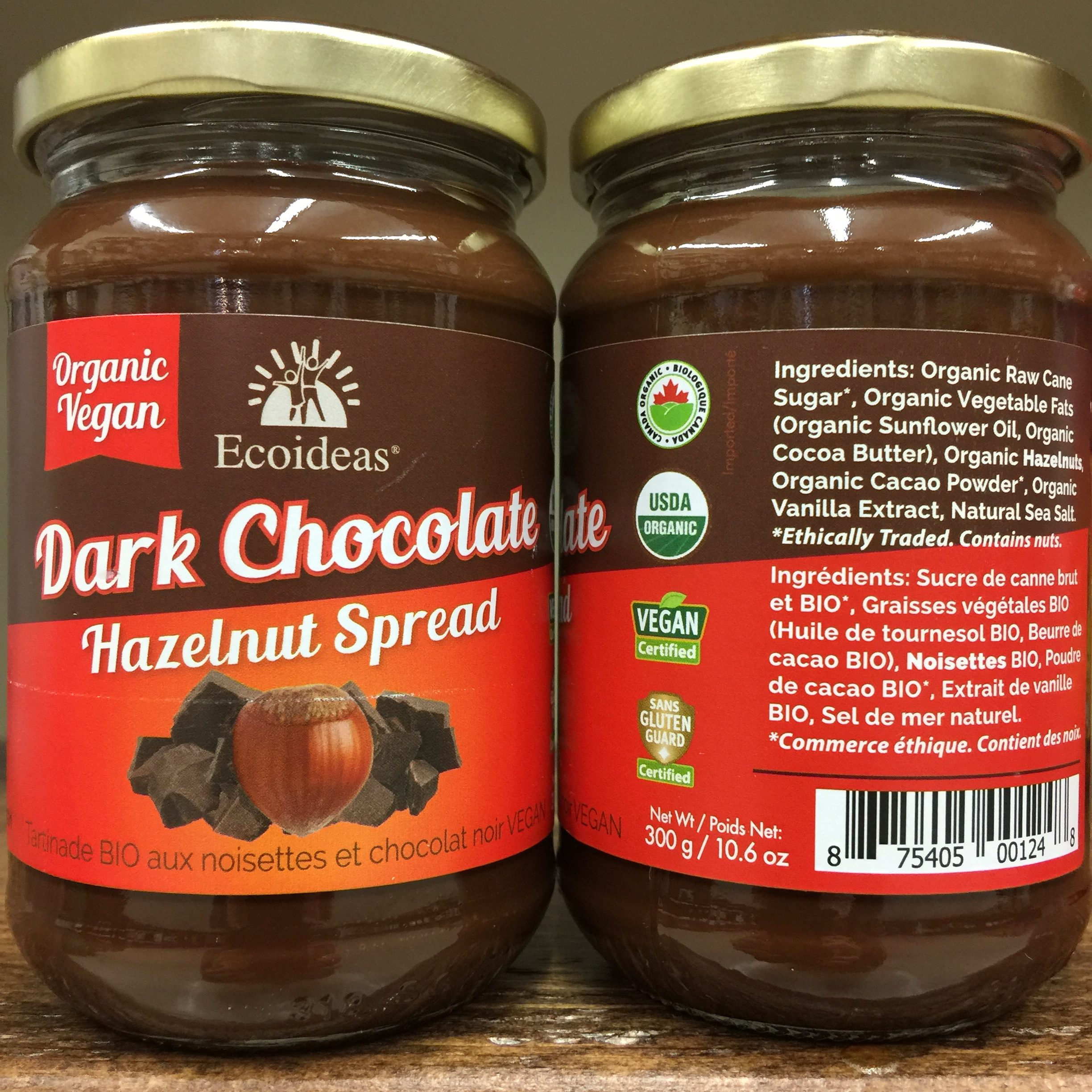 Ecoideas Dark Chocolate Hazelnut Spread - 300g. Image